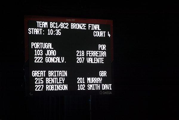 GB versus Portugal, Boccia BC1/2 Team Bronze medal match