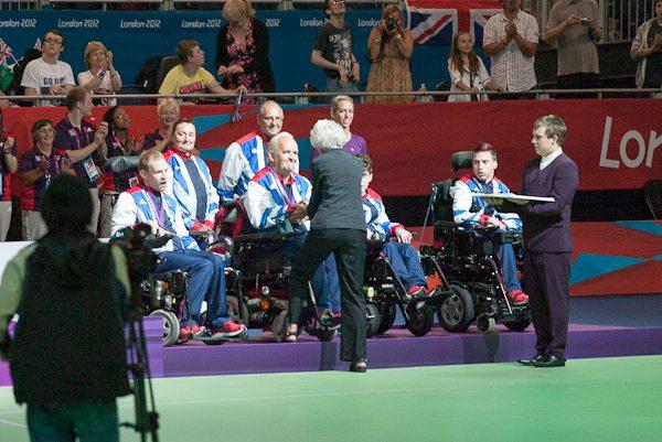 Nigel receives his bronze medal