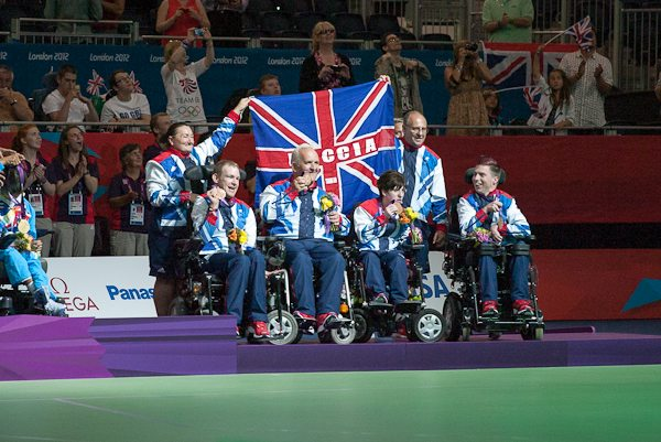 GB celebrate with medals