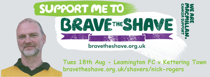 Nick Rogers - Brave the Shave please support me raise funds for Macmillan Cancer Support