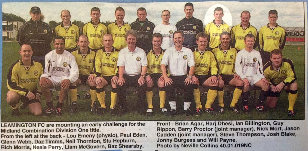 Leamington FC 2001-02 Neale Perry